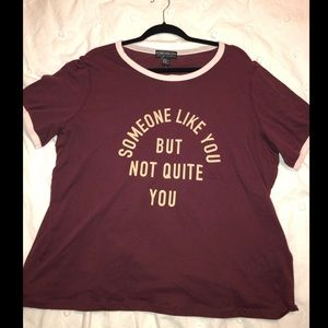NWT Forever 21+ Cropped Ringer Tee